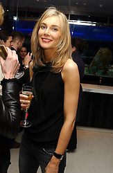 KIM HERSOV at a dinner hosted by Cartier to celebrate the opening of the 2004 Frieze Art Fair, held at Yauacha 15-17 Broadwick Street, London W1 on 13th October 2004.<br /><br />NON EXCLUSIVE - WORLD RIGHTS