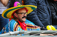 A Wolverhampton Wanderers fan during the The FA Cup semi-final match between Watford and Wolverhampton Wanderers at Wembley Stadium, London, England on 7 April 2019.