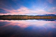 Fall colors on Seeley Lake, Montana.