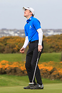 Joshua Hill (Galgorm Castle) on the 18th green during Round 2 of the Connacht U16 Boys Amateur Open Championship at Galway Bay Golf Club, Oranmore, Galway on Wednesday 17th April 2019.<br /> Picture:  Thos Caffrey / www.golffile.ie