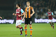 Michael Dawson, the Hull City captain looking on. Premier league match, West Ham Utd v Hull city at the London Stadium, Queen Elizabeth Olympic Park in London on Saturday 17th December 2016.<br /> pic by John Patrick Fletcher, Andrew Orchard sports photography.
