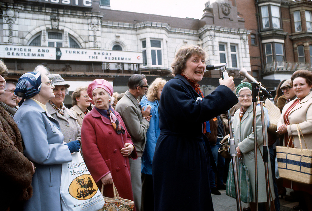 Shirley Williams and David Steel seen out campaigning for the Social Liberal Democratic Party SDLP in 1983.