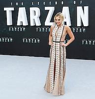 Margot Robbie, The Legend of Tarzan - European film premiere, Leicester Square, London UK, 05 July 2016, Photo by Richard Goldschmidt