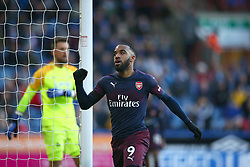 Arsenal's Alexandre Lacazette celebrates scoring his side's second goal of the game
