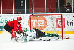 Zan JEZOVSEK during Alps League Ice Hockey match between HDD SIJ Jesenice and HK SZ Olimpija on January 2, 2021 in Ice Arena Podmezakla, Jesenice, Slovenia. Photo by Peter Podobnik / Sportida
