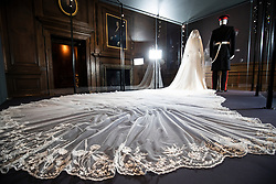 A special exhibition 'A Royal Wedding: The Duke and Duchess of Sussex' featuring a display of their Royal Highnesses' wedding outfits at the Palace of Holyroodhouse, Edinburgh. The exhibition will open to the public on Friday June 14, 2019.