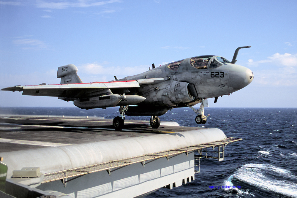 EA-6B waist catapult shot