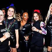 Larissa Eddie, Tina T and Hayley Palmer attends the preview PhoboPhobia Live Halloween Show on 10th October 2019, at The London Bridge Experience & London Tombs, London, UK.