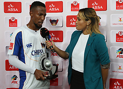 Man of the Match Diamond Thopola of Chippa United during the 2016 Premier Soccer League match between Chippa United and Kaizer Chiefs held at the Nelson Mandela Bay Stadium in Port Elizabeth, South Africa on the 3rd December 2016.<br /> <br /> Photo by:   Richard Huggard / Real Time Images
