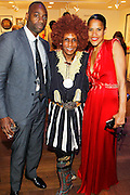 May 19, 2016-Brooklyn, NY: United States: (L-R) Attorney Kenneth Montgomery, aPhotographic Artist Renee Cox and Arts Educator Dr. Isolde Brielmaier attend the 2nd Annual (Museum of Contemporary African Diasporic Art (MoCADA) Masquerade Ball held at the Brooklyn Academy of Music on May 19, 2016 in Brooklyn, New York. (Terrence Jennings/terrencejennngs.com)