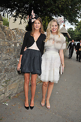 Left to right, PRINCESS FLORENCE VON PREUSSEN and ALEXANDRA FINLAY at the wedding of Lohralee Stutz and the Hon.William Astor at St.Augustine's Church, East Hendred, Oxfordshire on 5th September 2009.