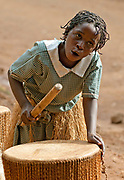 Drummer girl from Bwindi, Uganda.