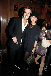 GORDON MARTIN and TALLULAH RUFUS-ISAACS at the Tatler Magazine Little Black Book party at Tramp, 40 Jermyn Street, London SW1 on 5th November 2008.