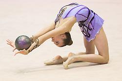 Alessia Ceconi of Italy competes during 27th MTM - International tournament in rhythmic gymnastics Ljubljana, on April 19, 2014 in Arena Krim, Ljubljana, Slovenia. Photo by Vid Ponikvar / Sportida