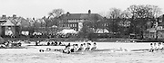 Chiswick. London.<br /> Eights starting from Mortlake<br /> left Gen Set, [Italian national Crew] [Abbagnales]<br /> 1987 Head of the River Race over the reversed Championship Course Mortlake to Putney on the River Thames. Saturday 28.03.1987. <br /> <br /> [Mandatory Credit: Peter SPURRIER;Intersport images] 1987 Head of the River Race, London. UK