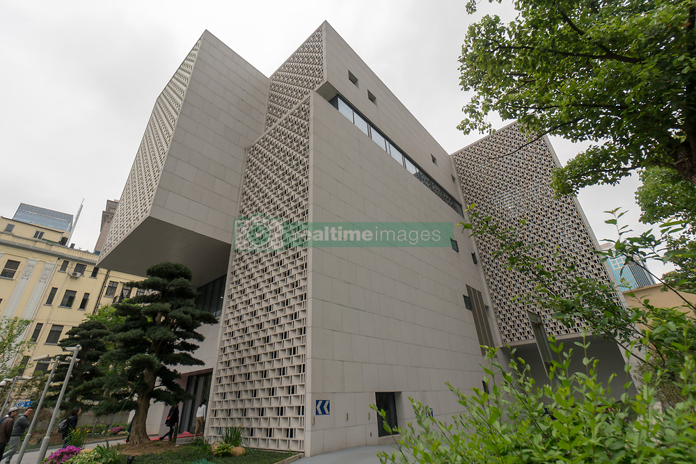 April 24, 2018 - Shanghai, Shanghai, China - Shanghai, CHINA-24th April 2018: The Shanghai Chess Academy , located on Nanjing West Road in Jing'an District, Shanghai, is an architecture built in the style of chess. (Credit Image: © SIPA Asia via ZUMA Wire)