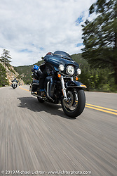 Rudy Ruderman of Loveland, CO on his 2016 Ultra Limited riding from Thunder Mountain Harley-Davidson in Loveland, Colorado to the Rocky Mountain HOG Rally in Steamboat Springs. USA. Wednesday June 7, 2017. Photography ©2017 Michael Lichter.