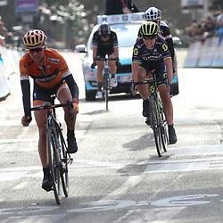 25-02-2017: Wielrennen: Omloop Het Nieuwsblad: Gent<br /> GENT<br /> Lucinda Brand heeft de Omloop Het Nieuwsblad voor vrouwen gewonnen. Chantal Blaak 2e en Annemiek van Vlenten maakten het Nederlands podium compleet