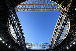 2nd July 2017 - FIFA Confederations Cup Final - Chile v Germany - A general view (GV) of the roof and blue sky beyond it over the Zenit Arena Stadium - Photo: Simon Stacpoole / Offside.