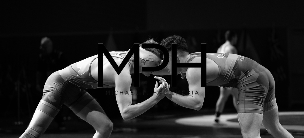 Athletes compete in the Freestyle Wrestling Canada Olympic Trials ahead of the 2020 Tokyo Olympics in Niagara Falls, ON on Saturday, December 7, 2019. Wrestling Canada/GMC - MPH