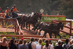 IJsbrand Chardon, (NED), Bravour, Danbrozie, Don Marcell, Winston E, Zepp - Driving Marathon - Alltech FEI World Equestrian Games™ 2014 - Normandy, France.<br /> © Hippo Foto Team - Dirk Caremans<br /> 06/09/14