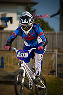 #911 (MILLMAN Sabrina) CAN during the practice session at the 2012 UCI BMX Supercross World Cup in Abbotsford, Canada