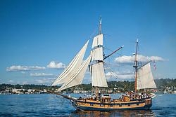 United States, Washington, Kirkland, annual Tall Ships festival on Lake Washington