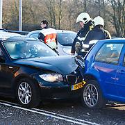 NLD/Huizen/201001201 - Ongeval met 5 auto's kruising Randweg - A27