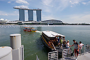 Singapore. Singapore River Cruise. Marina Bay Sands Hotel.