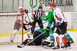 Basic Luka of HDD Jesenice during Hockey match between SZ HD Olimpija and HDD Jesenice in 4tht match of Quarterfinals of Alps Hockey League, on March 13, 2018 in Hala Tivoli, Ljubljana, Slovenia. Photo by Ziga Zupan / Sportida