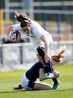 Caption Template Rugby Union - 2021 Women Six Nations - Pool A - England vs Scotland - Castle Park, Doncaster<br /> <br /> Emily Scarratt of England at Castle Park <br /> <br /> Credit COLORSPORT/LYNNE CAMERON