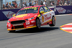 October 19, 2018 - Gold Coast, QLD, U.S. - GOLD COAST, QLD - OCTOBER 19: Fabian Coulthard in the Shell V-Power Racing Team Ford Falcon during Friday practice at The 2018 Vodafone Supercar Gold Coast 600 in Queensland on October 19, 2018. (Photo by Speed Media/Icon Sportswire) (Credit Image: © Speed Media/Icon SMI via ZUMA Press)