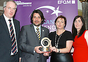 Dr Tony Lenehan of Fáilte Ireland and Matt Fisher COO, EFQM present  Clio O'Gara and Eilish Loughrey of the Killarney Convention Centre with their award at the EFQM Ireland Excellence Awards ceremony in association with Fáilte Ireland and the Centre for Competitiveness at the Galway Bay Hotel on Friday night. Photo:- Andrew Downes Photography / No Fee
