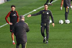 Manchester City coach Mikel Arteta gestures to Brian Kidd - Mandatory by-line: Matt McNulty/JMP - 31/10/2016 - FOOTBALL - City Football Academy - Manchester, England - Manchester City v Barcelona - UEFA Champions League - Group C