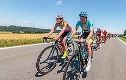 05.07.2017, Altheim, AUT, Ö-Tour, Österreich Radrundfahrt 2017, 3. Etappe von Wieselburg nach Altheim (226,2km), im Bild Stephan Rabitsch (AUT, Team Felbermayr Simplon Wels), Nikita Stalnov (KAZ, Astana Pro Team) // Stephan Rabitsch (AUT Team Felbermayr Simplon Wels) Nikita Stalnov (KAZ Astana Pro Team) during the 3rd stage from Wieselburg to Altheim (199,6km) of 2017 Tour of Austria. Altheim, Austria on 2017/07/05. EXPA Pictures © 2017, PhotoCredit: EXPA/ JFK