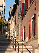 A local street in Valence, in the Drôme region, France
