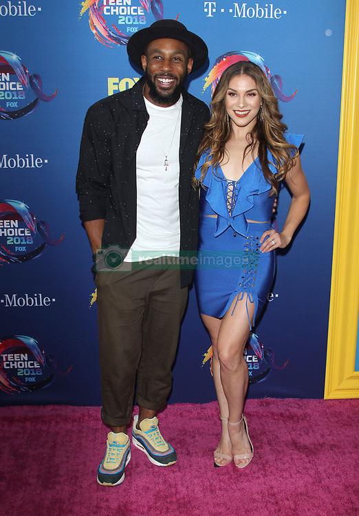 Fox Teen Choice Awards 2018. 12 Aug 2018 Pictured: Alison Holker, Stephen Boss. Photo credit: Jaxon / MEGA TheMegaAgency.com +1 888 505 6342