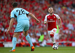 Arsenal's Jack Wilshere (right) in action