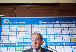 Milan Mandaric, president of NK Olimpija Ljubljana during press conference when presented Olimpija's new coach, on January 11, 2016 in Austria Trend Hotel, Ljubljana, Slovenia. Photo by Vid Ponikvar / Sportida