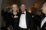 nicky page and John Redwood MP. The Leader's Dinner ( Michael Howard's ) Banqueting House. Whitehall. London.  November 2005. ONE TIME USE ONLY - DO NOT ARCHIVE  © Copyright Photograph by Dafydd Jones 66 Stockwell Park Rd. London SW9 0DA Tel 020 7733 0108 www.dafjones.com