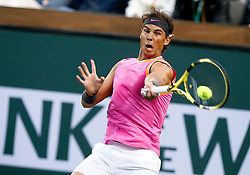 March 10, 2019 - Indian Wells, CA, U.S. - INDIAN WELLS, CA - MARCH 10: Rafael Nadal (ESP) hits a forehand during the second round of the BNP Paribas Open on March 10, 2019, at the Indian Wells Tennis Gardens in Indian Wells, CA. (Photo by Adam Davis/Icon Sportswire) (Credit Image: © Adam Davis/Icon SMI via ZUMA Press)