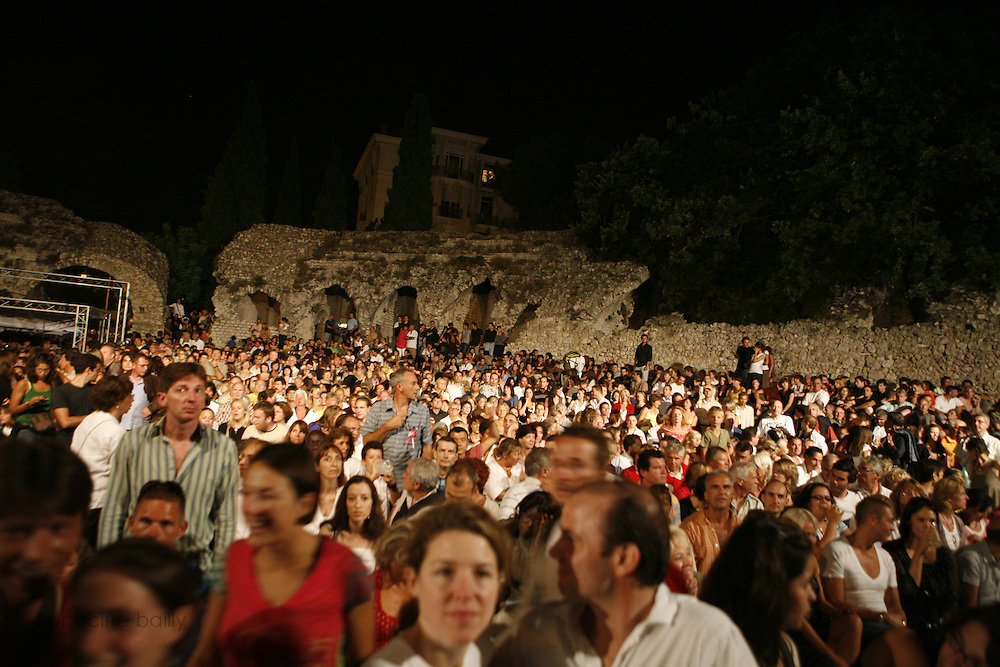 Cimiez-Nice, France. July 26th 2008..The audience at the Nice jazz Festival.
