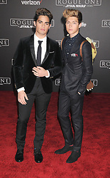 December 10, 2016 - Los Angeles, California, United States - December 10th 2016 - Los Angeles California USA - Boy Band Members FOR EVER IN YOUR MIND: EMERY KELLY, RICKY GARCIA   at the World Premiere for ''Rogue One Star Wars'' held at the Pantages Theater, Hollywood, Los Angeles  CA (Credit Image: © Paul Fenton via ZUMA Wire)