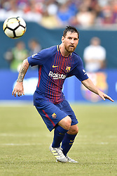 July 22, 2017 - East Rutherford, New Jersey, U.S - FC Barcelona forward LIONEL MESSI (10) is seen during International Champions Cup action at MetLife Stadium in East Rutherford New Jersey FC Barcelona defeats Juventus 2 to 1. (Credit Image: © Brooks Von Arx via ZUMA Wire)