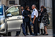 Actor Johnny Depp leaves the High Court in London, Monday, July 20, 2020. Amber Heard started Monday to give evidence at the High Court in London as part of Johnny Depp's libel case against The Sun over allegations of domestic violence during the couple's relationship. (VXP Photo/ Vudi Xhymshiti)