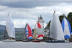 The Silvers Marine Scottish Series 2014, organised by the  Clyde Cruising Club,  celebrates it's 40th anniversary.<br /> Day 1<br /> GBR7737R, Aurora, Rod Stuart / A Ram, CCC, Corby 37 at Cloch<br /> <br /> Racing on Loch Fyne from 23rd-26th May 2014<br /> <br /> Credit : Marc Turner / PFM