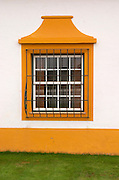 Reception building. Wrought iron bars protecting the windows. J Portugal Ramos Vinhos, Estremoz, Alentejo, Portugal