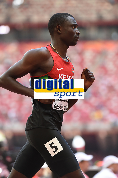 David Rudisha (KEN) competes on Men's 800 m Heat during the IAAF World Championships, Beijing 2015, at the National Stadium, in Beijing, China, Day 1, on August 22, 2015 - Photo Stephane Kempinaire / KMSP / DPPI