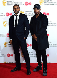 Noel Clarke (left) and Ashley Walters (right) in the press room at the Virgin TV British Academy Television Awards 2018 held at the Royal Festival Hall, Southbank Centre, London.