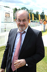 SIR SALMAN RUSHDIE at the 2008 Veuve Clicquot Gold Cup polo final at Cowdray Park Polo Club, Midhurst, West Sussex on 20th July 2008.<br /> <br /> NON EXCLUSIVE - WORLD RIGHTS